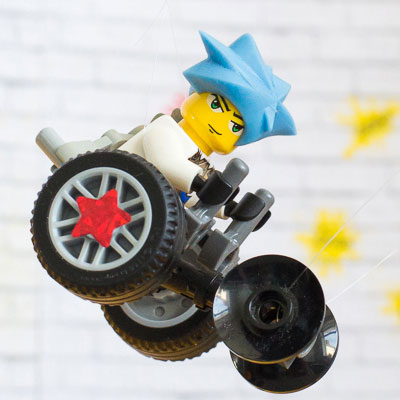 #ToyLikeMe makeover image showing Lego mini-figure using a wheelchair.