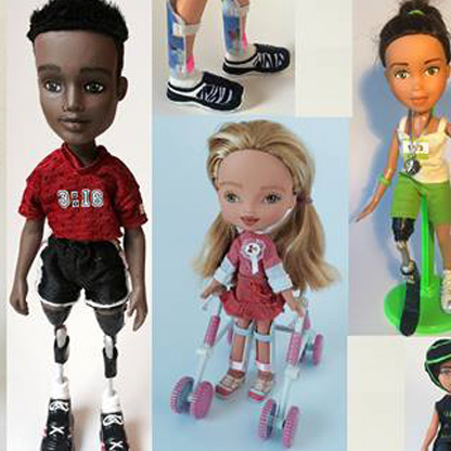 Image showing a montage of dolls with different diff:abilities.