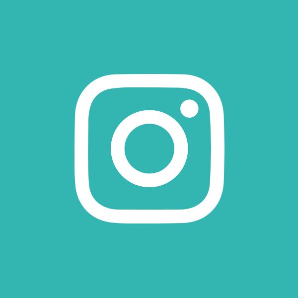 Instagram logo, white on teal background.
