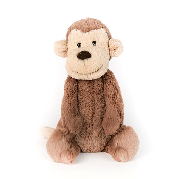 Brown plush monkey.
