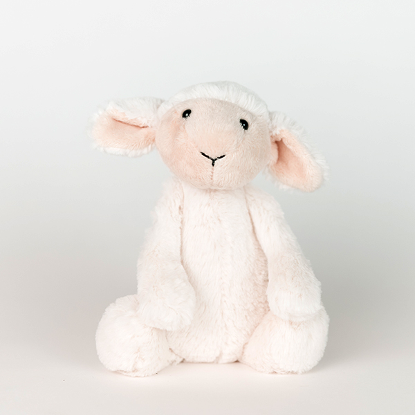 White plush lamb.
