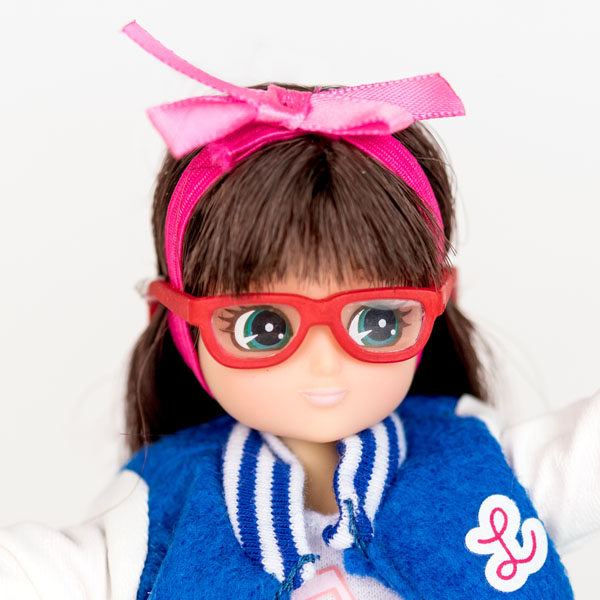 Close up of Lottie doll