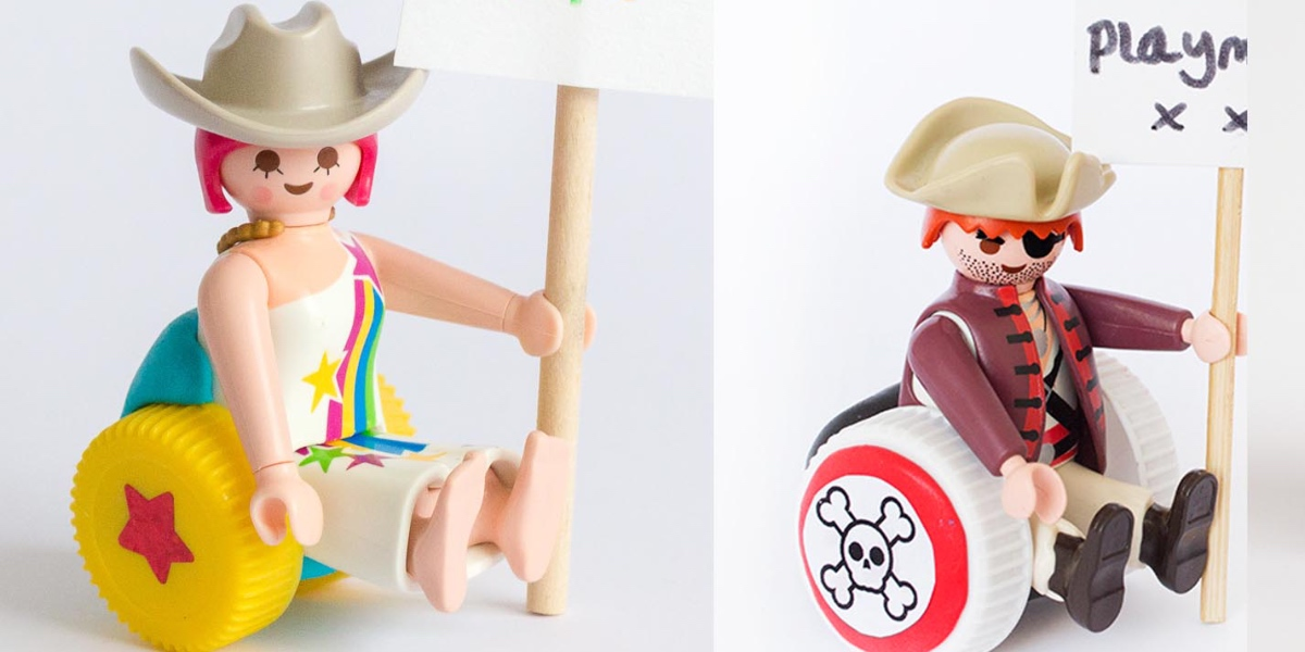 Toys in wheelchairs